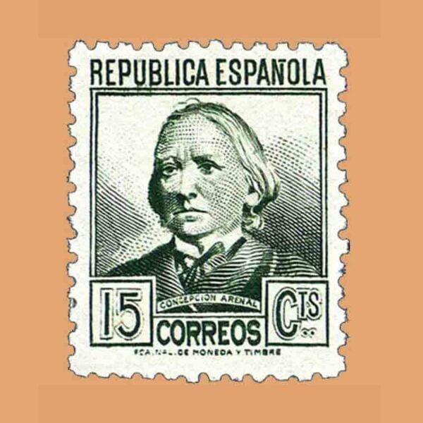 Edifil 683. Personajes. Concepción Arenal. Sello de 15 cts. 1935