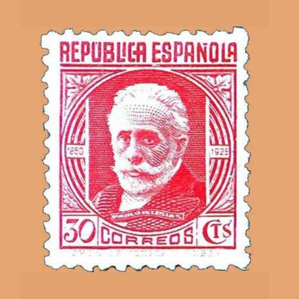 00734. Cifras y Personajes. Pablo Iglesias. Sello 30 cts. 1936