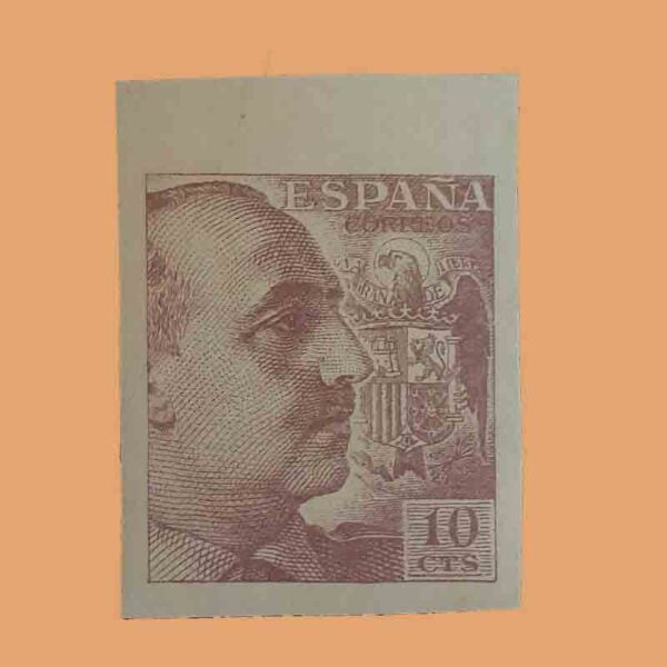 00888. Pro Tuberculosos. Sello 10 cts. Castaño, sin dentar. 1939