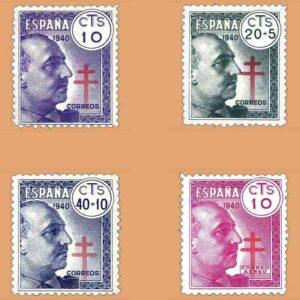 Edifil 936-939. Serie Pro Tuberculosos. 4 valores ** 1940