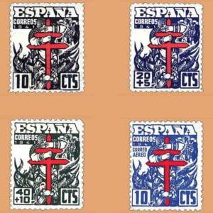 Edifil 948-951. Serie Pro Tuberculosos. 4 valores ** 1941