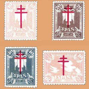 Edifil 957-960. Serie Pro Tuberculosos. 4 valores ** 1942