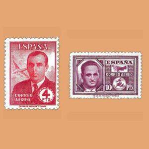 Edifil 991-992. Serie Haya y García Morato. 2 valores ** 1945