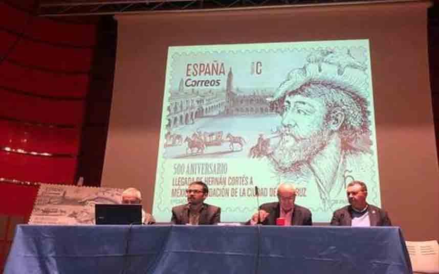 Nuevo sello para conmemorar el 500 Aniversario de la llegada de Hernán Cortés a México