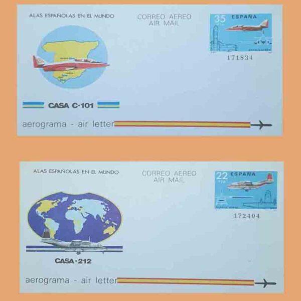 Aerogramas 205 y 206 Aerograma 1983