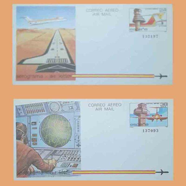 Aerogramas 207 y 208 Aerograma 1984