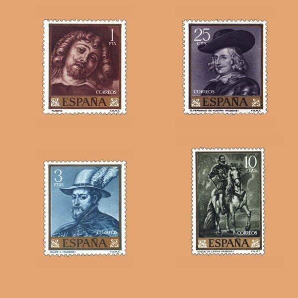 Edifil 1434-1437. Serie Pedro Pablo Rubens. 4 valores. ** 1962