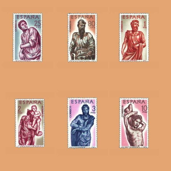 Edifil 1438-1443. Serie Alonso de Berruguete. 6 valores. ** 1962