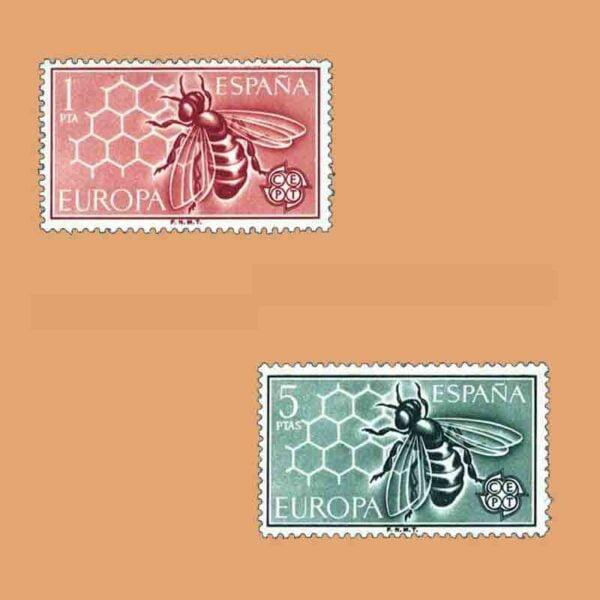 01448-01449. Serie Europa. CEPT. 2 valores. ** 1962