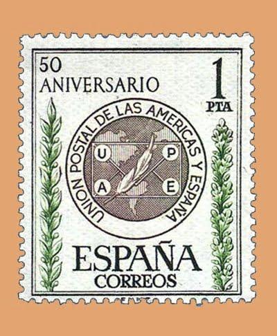 01462. L Aniversario de la Unión Postal de la Américas. Sello 1 pta. ** 1962