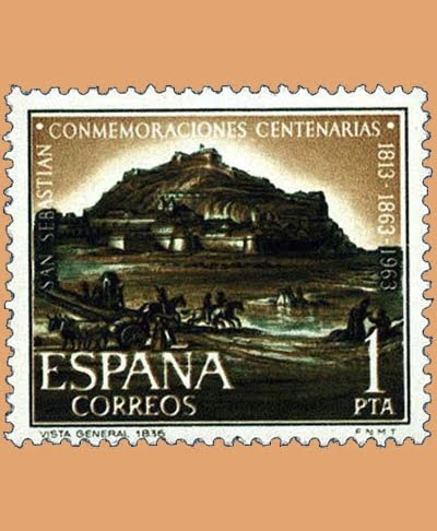 Edifil 1516-1518. Serie Conmemoraciones Centenarias de San Sebastián. 3 valores. ** 1963