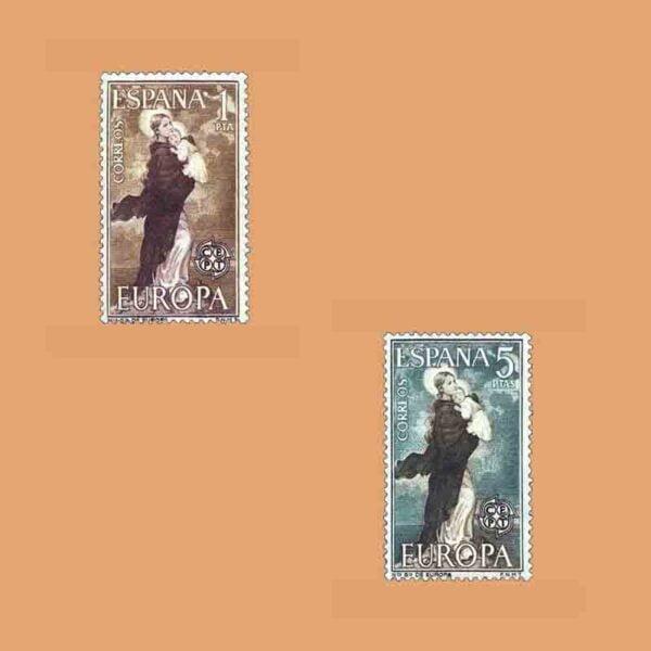 Edifil 1519-1520. Serie Europa. 2 valores. ** 1963