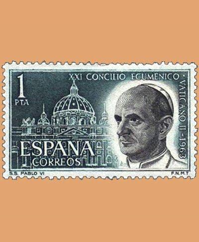 Edifil 1540. Concilio Ecuménico Vaticano II. Sello 1 pta. ** 1963