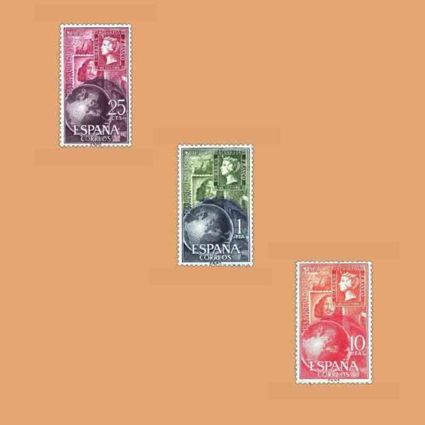 Edifil 1595-1597. Serie Día Mundial del Sello. 3 valores. ** 1964