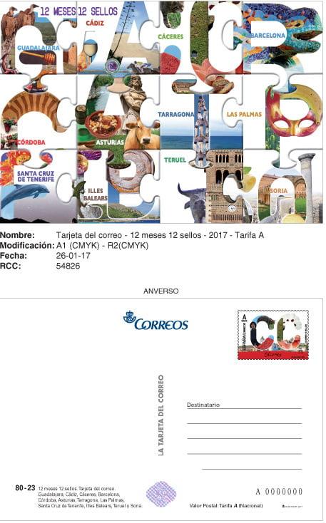 '12 meses, 12 sellos' la serie de Correos que viaja por las provincias españolas