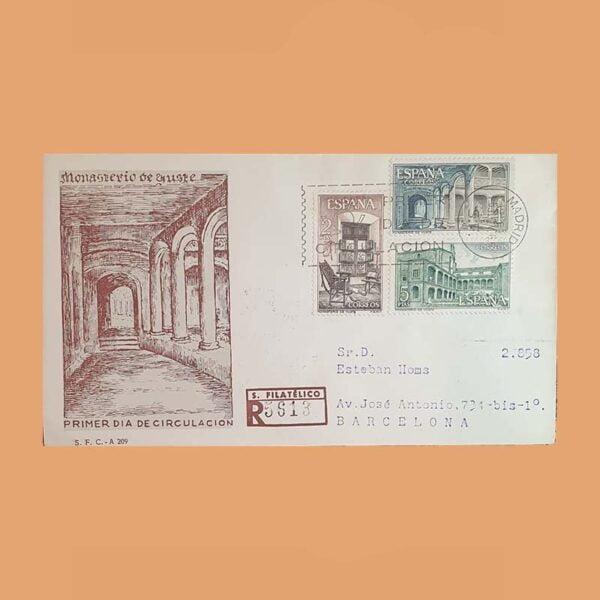 Edifil 1686/8 PD Sobre Primer Día