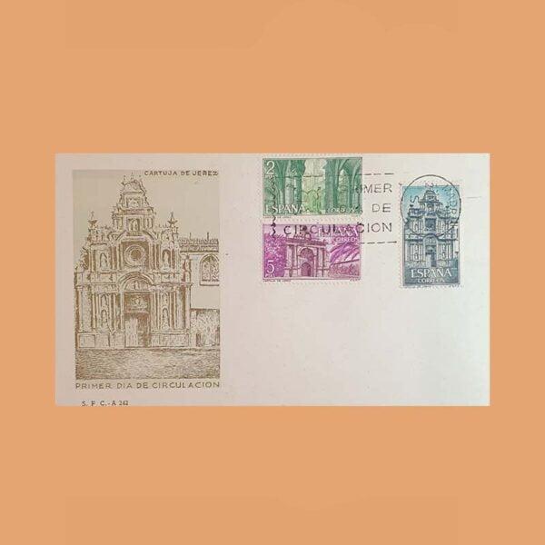 Edifil 1761/3 PD Sobre Primer Día