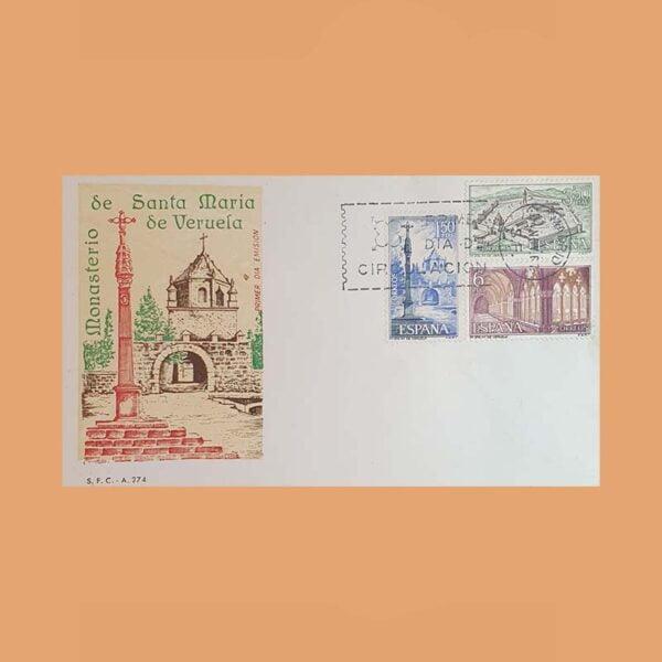 Edifil 1834/6PD Sobre Primer Día