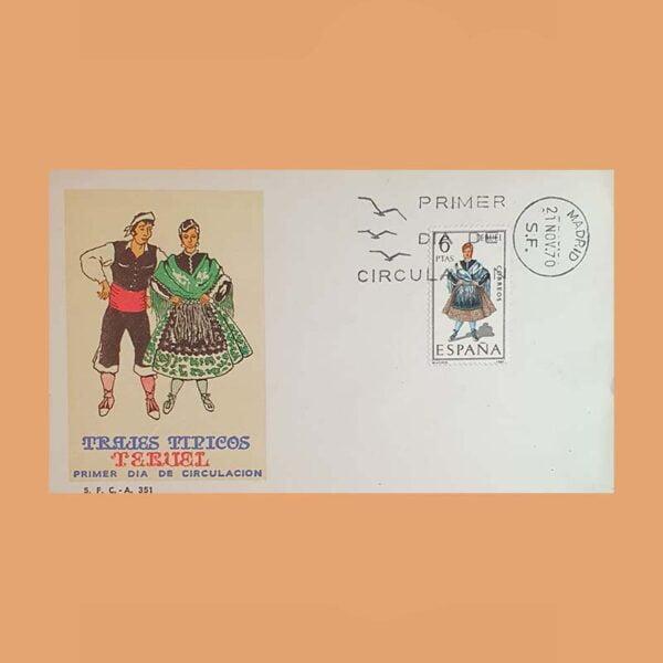 Edifil 1959 PD Sobre Primer Día