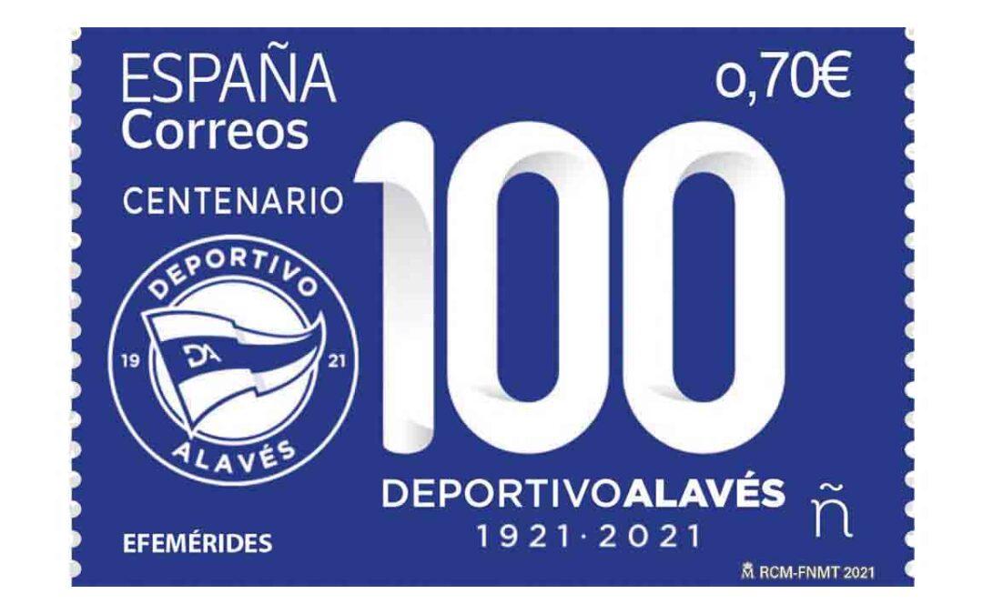 Sello Centenario del Deportivo Alavés