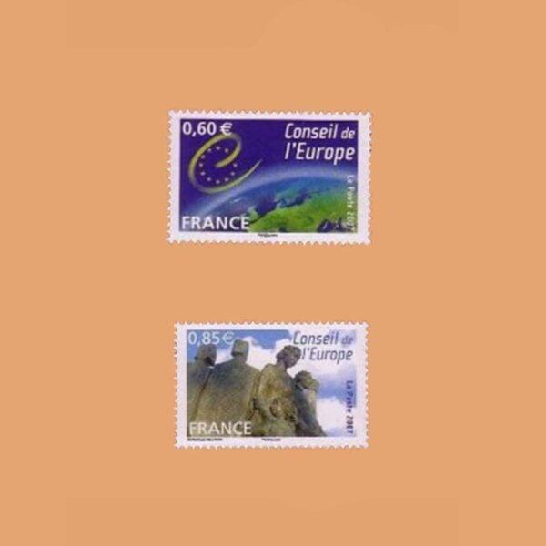 2007 Francia Serie 136/7 Service. Consejo de Europa