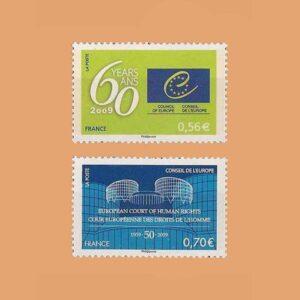 2009 Francia Serie 142/3. Consejo de Europa