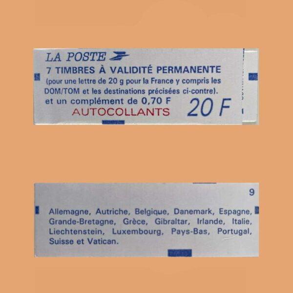 1995 Francia 1506 Carnet Marianne de Briat