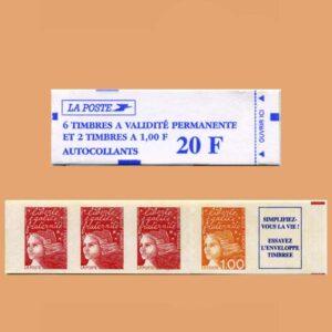 1997 Francia 1508 Carnet Marianne de 14 de julio