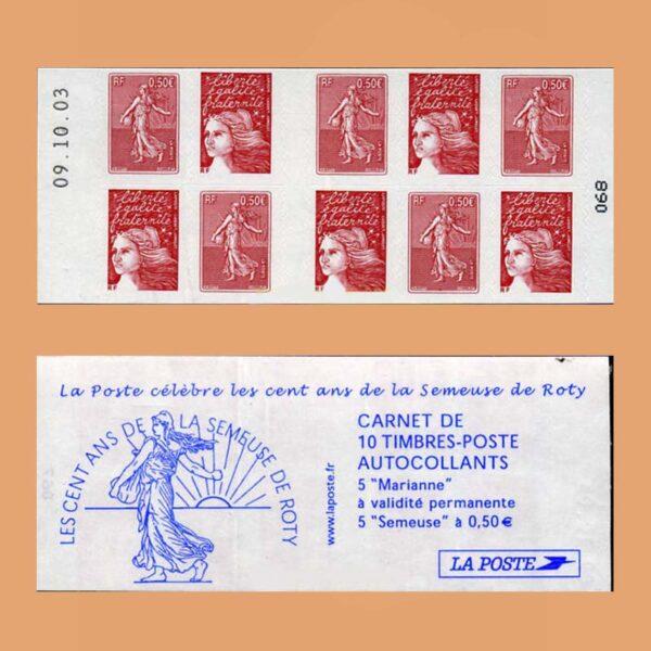 2003 Francia 1511 Carnet Centenario de la Sembradora