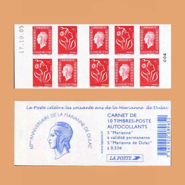 2005 Francia 1513 Carnet Mariana de Dulac