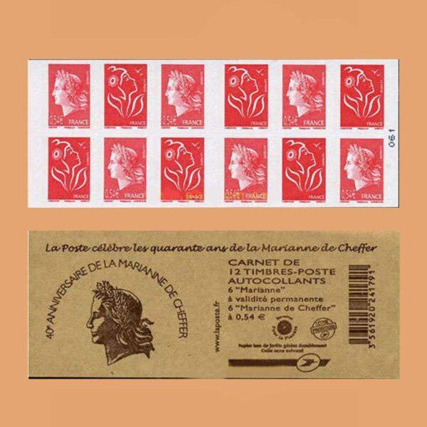 2007 Francia 1515 Carnet Mariana de Cheffer