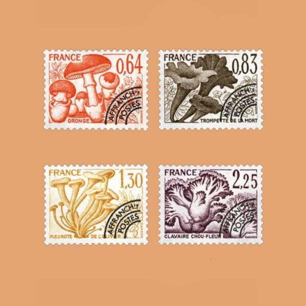 1979 Francia Serie 158/61 Preobliterados. Setas