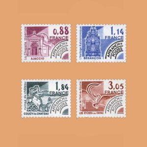 1981 Francia Serie 170/3 Preobliterados. Monumentos Históricos