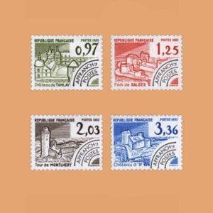 1982 Francia Serie 174/7 Preobliterados. Monumentos Históricos