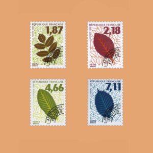 1996 Francia Serie 236/9 Preobliterados. Hojas de Arbol