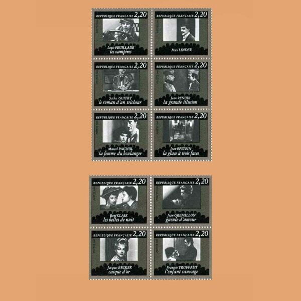 Francia 2433/42 Aniversario del cine francés 1986