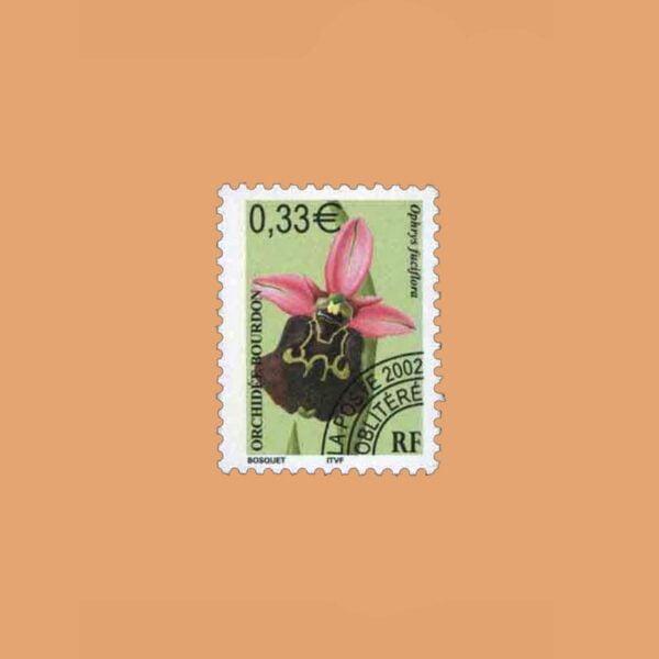 2002 Francia 245 Preobliterados. Orquideas