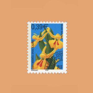 2004 Francia 248 Preobliterados. Orquideas