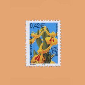 2004 Francia 249 Preobliterados. Orquideas