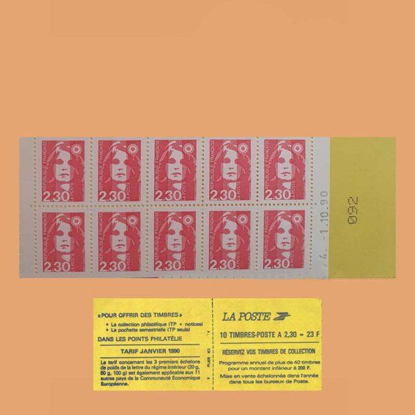1990 Francia 2629-C1 Carnet Marianne de Briat