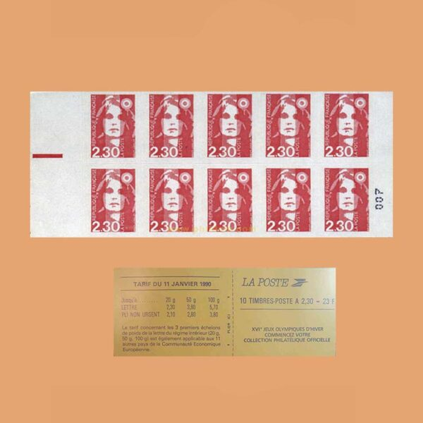 1990 Francia 2630-C2 Carnet Marianne de Briat