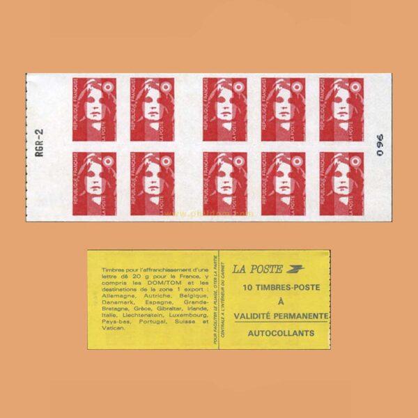 1994 Francia 2874-C2 Carnet Marianne de Briat