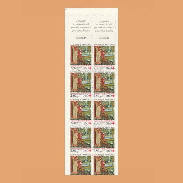 Francia 2915A Carnet Cruz Roja 1994