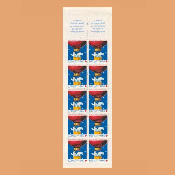 Francia 3039A Carnet Cruz Roja 1996
