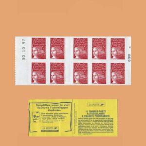 1997 Francia 3085-C1 Carnet Marianne de 14 de julio