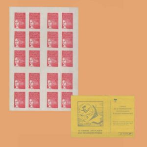 1997 Francia 3085a-C4 Carnet Marianne de 14 de julio