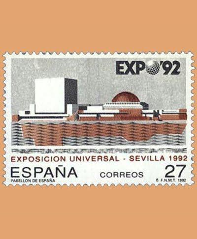 Edifil 3155. Exposición Universal Sevilla. Sello de 27 pts. **1992
