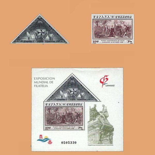 Edifil 3193/4. Serie Exposición Mundial de Filatelia Granada **1992