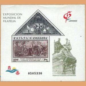 Edifil 3195. Hoja Exposición Mundial de Filatelia Granada **1992