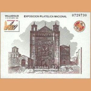 Edifil 3222. Hoja Exposición Filatélica Nacional EXFILNA **1992